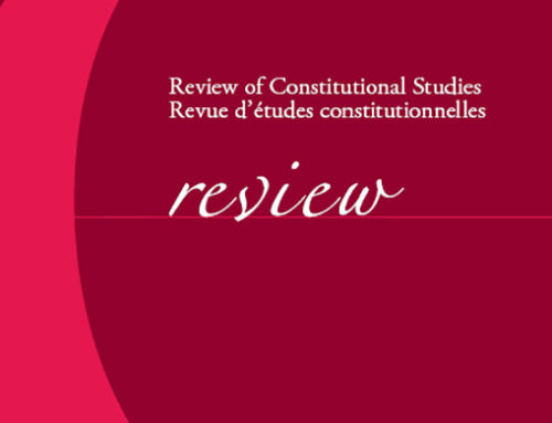Volume 24.1 (2019) Review of Constitutional Studies / Revue d'études constitutionnelles