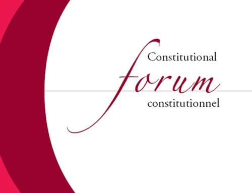 Volume 29.2 (2020) Constitutional Forum constitutionnel